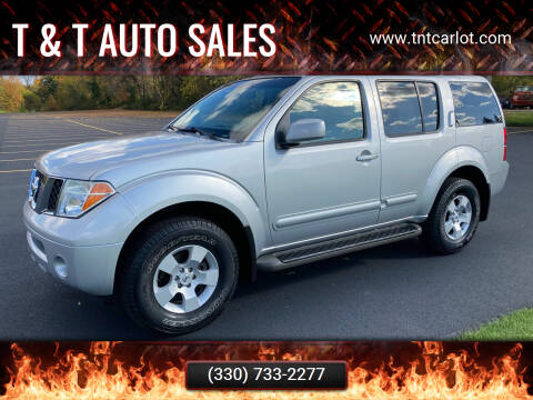 2007 Nissan Pathfinder for sale at T & T Auto Sales in Akron OH