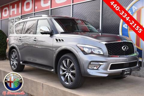 2017 Infiniti QX80 for sale at Alfa Romeo & Fiat of Strongsville in Strongsville OH