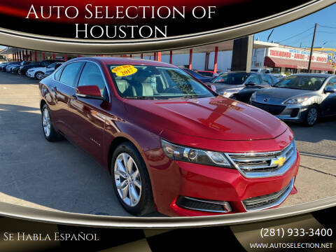 2017 Chevrolet Impala for sale at Auto Selection of Houston in Houston TX