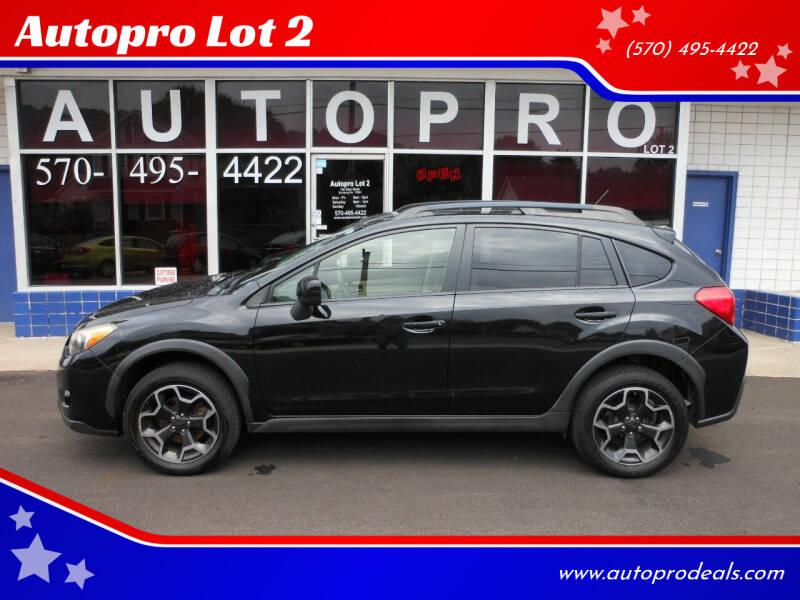 2013 Subaru XV Crosstrek for sale at Autopro Lot 2 in Sunbury PA