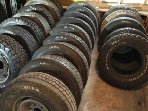 "2016 80 TIRES AND 23 RIMS 17 NEW OR LIKE NEW, 15,16,17 "" for sale at ACE HARDWARE OF ELLSWORTH dba ACE EQUIPMENT in Canfield OH"