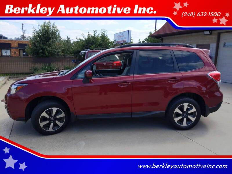 2017 Subaru Forester for sale at Berkley Automotive Inc. in Berkley MI