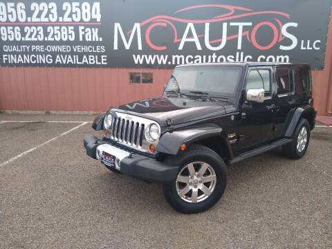 2012 Jeep Wrangler Unlimited for sale at MC Autos LLC in Pharr TX
