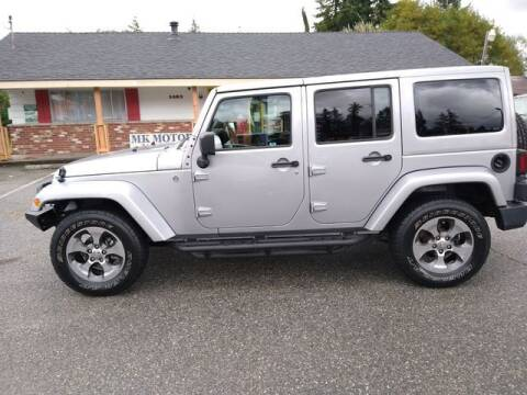 2018 Jeep Wrangler JK Unlimited for sale at MK MOTORS in Marysville WA