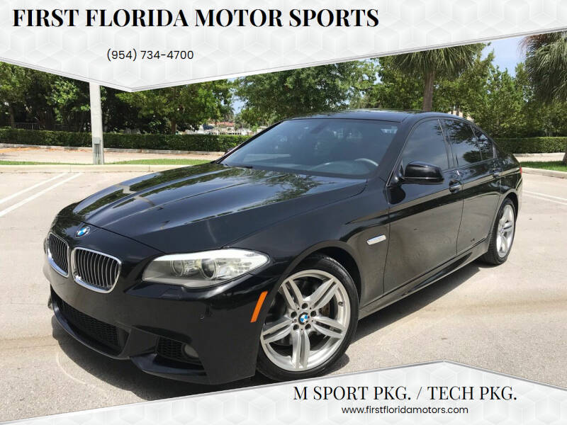 2012 BMW 5 Series for sale at FIRST FLORIDA MOTOR SPORTS in Pompano Beach FL