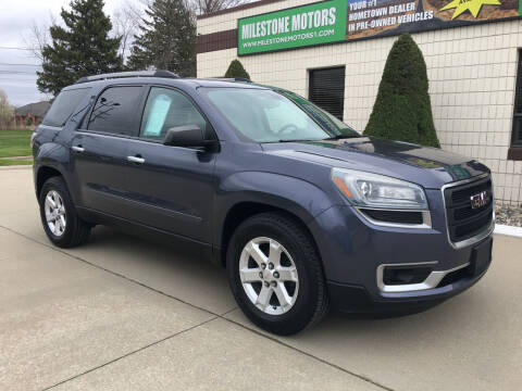2013 GMC Acadia for sale at MILESTONE MOTORS in Chesterfield MI