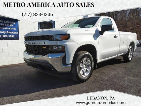 2019 Chevrolet Silverado 1500 for sale at METRO AMERICA AUTO SALES of Lebanon in Lebanon PA