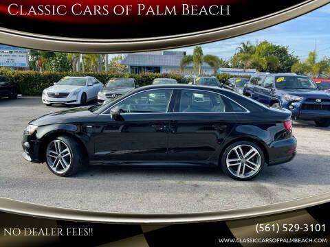 2017 Audi A3 for sale at Classic Cars of Palm Beach in Jupiter FL