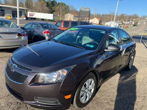 2014 Chevrolet Cruze for sale at G & G Auto Sales in Steubenville OH