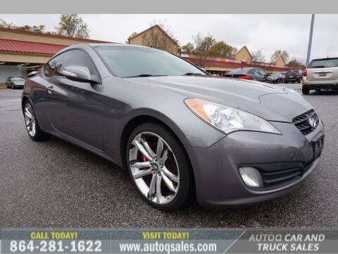 2010 Hyundai Genesis Coupe for sale at Auto Q Car and Truck Sales in Mauldin SC