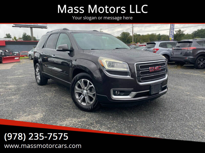 2014 GMC Acadia for sale at Mass Motors LLC in Worcester MA