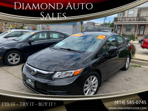 2012 Honda Civic for sale at Diamond Auto Sales in Milwaukee WI