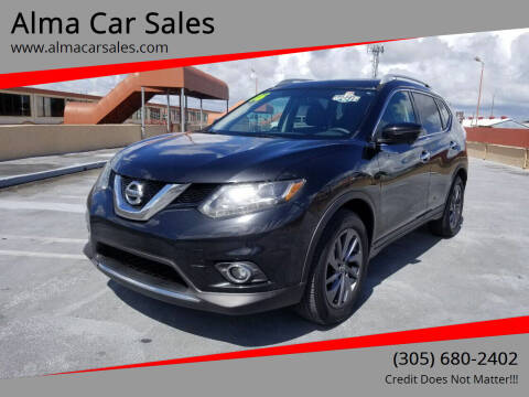 2016 Nissan Rogue for sale at Alma Car Sales in Miami FL