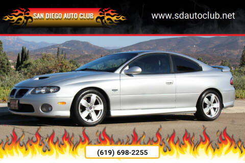 2006 Pontiac GTO for sale at San Diego Auto Club in Spring Valley CA