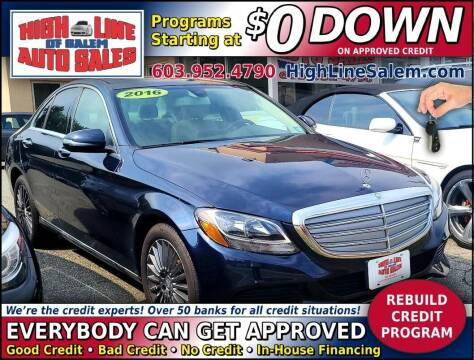 2016 Mercedes-Benz C-Class for sale at High Line Auto Sales of Salem in Salem NH