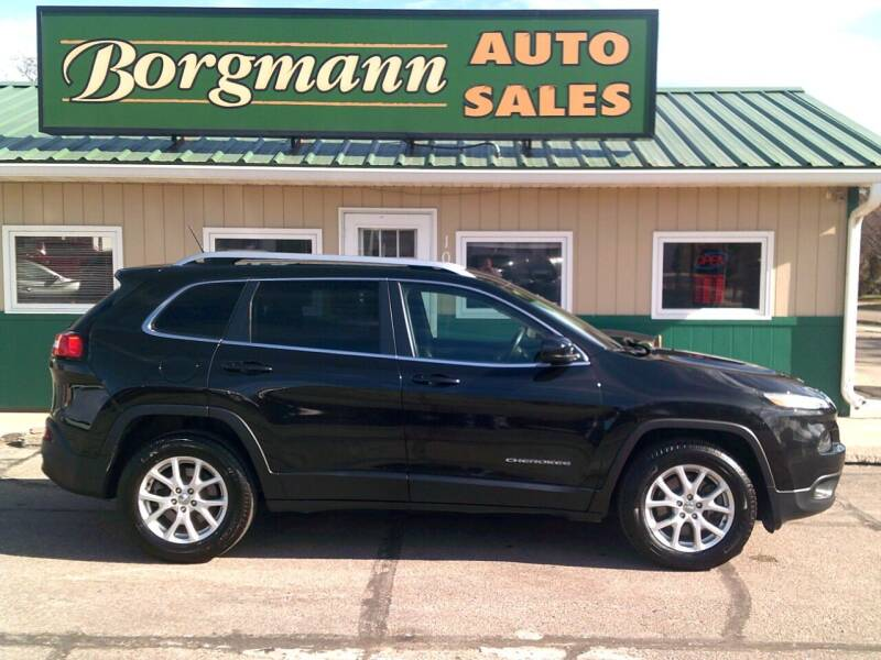 2015 Jeep Cherokee for sale at Borgmann Auto Sales in Norfolk NE