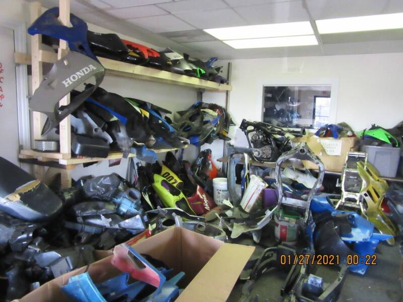 FAIRINGS AND  TANKS  GALORE for sale at Trinity Cycles in Burlington NC