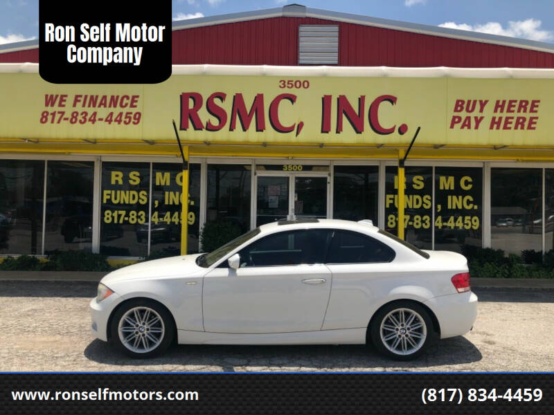 2012 BMW 1 Series for sale at Ron Self Motor Company in Fort Worth TX