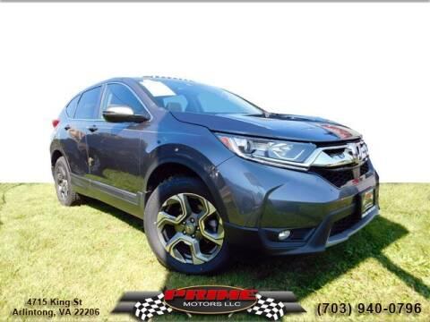 2018 Honda CR-V for sale at PRIME MOTORS LLC in Arlington VA