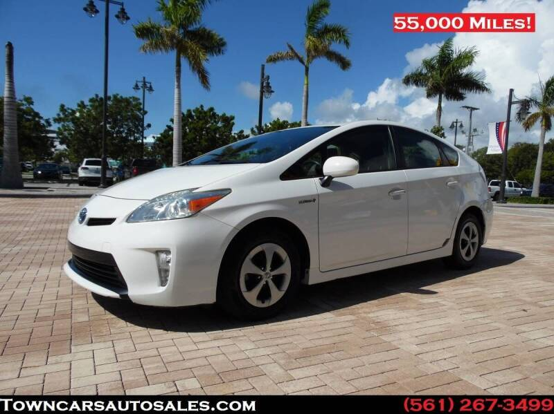 2013 Toyota Prius for sale at Town Cars Auto Sales in West Palm Beach FL