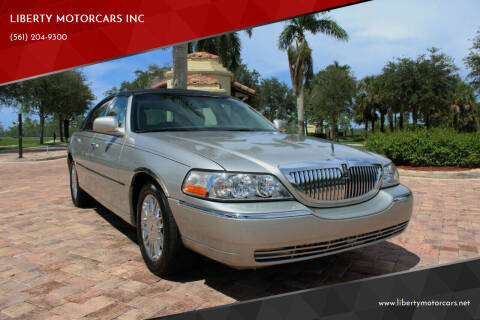 2009 Lincoln Town Car for sale at LIBERTY MOTORCARS INC in Royal Palm Beach FL