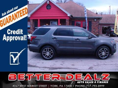 2016 Ford Explorer for sale at Better Dealz Auto Sales & Finance in York PA