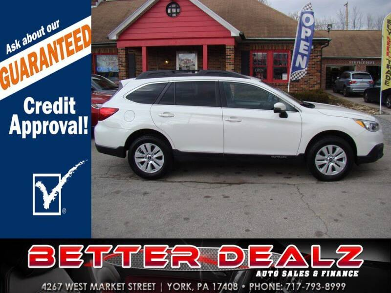 2017 Subaru Outback for sale at Better Dealz Auto Sales & Finance in York PA
