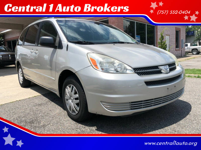 2004 Toyota Sienna for sale at Central 1 Auto Brokers in Virginia Beach VA