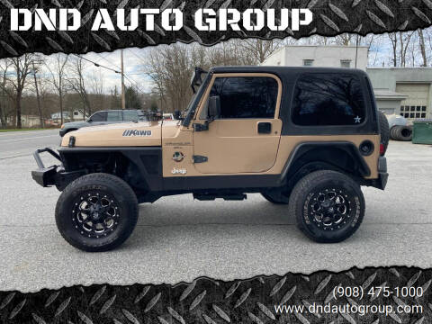 2000 Jeep Wrangler for sale at DND AUTO GROUP in Belvidere NJ