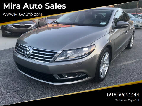 2013 Volkswagen CC for sale at Mira Auto Sales in Raleigh NC