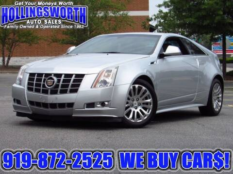 2012 Cadillac CTS for sale at Hollingsworth Auto Sales in Raleigh NC
