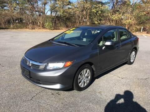 2012 Honda Civic for sale at Westford Auto Sales in Westford MA