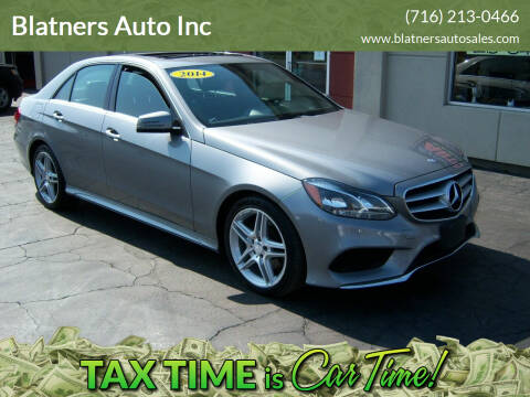2014 Mercedes-Benz E-Class for sale at Blatners Auto Inc in North Tonawanda NY