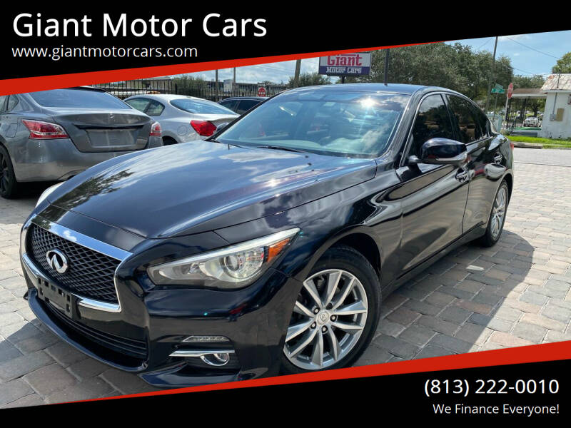 2014 Infiniti Q50 for sale at Giant Motor Cars in Tampa FL