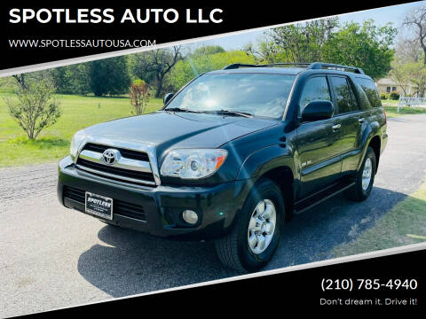 2007 Toyota 4Runner for sale at SPOTLESS AUTO LLC in San Antonio TX