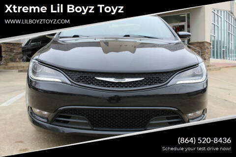 2015 Chrysler 200 for sale at Xtreme Lil Boyz Toyz in Greenville SC