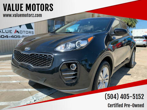 2018 Kia Sportage for sale at VALUE MOTORS in Kenner LA