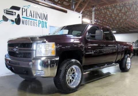 2009 Chevrolet Silverado 2500HD for sale at Platinum Motors in Portland OR