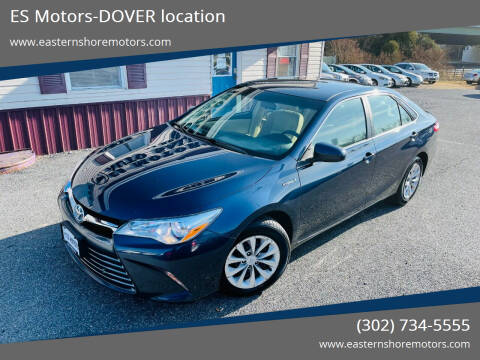 2015 Toyota Camry Hybrid for sale at ES Motors-DAGSBORO location - Dover in Dover DE