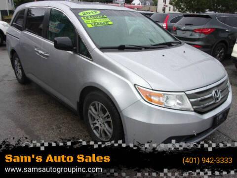 2012 Honda Odyssey for sale at Sam's Auto Sales in Cranston RI