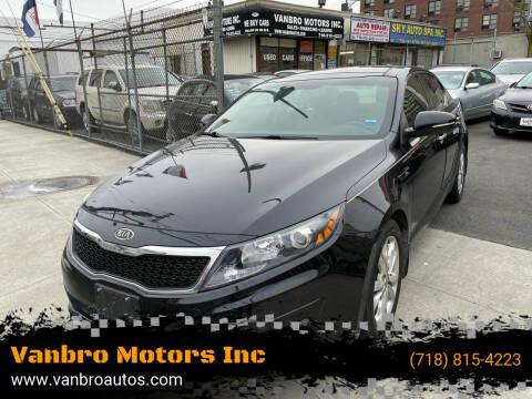 2012 Kia Optima for sale at Vanbro Motors Inc in Staten Island NY