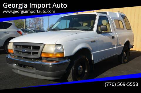 1999 Ford Ranger for sale at Georgia Import Auto in Alpharetta GA