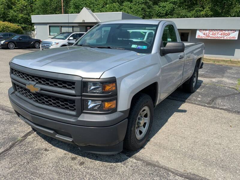 2015 Chevrolet Silverado 1500 for sale at B & P Motors LTD in Glenshaw PA