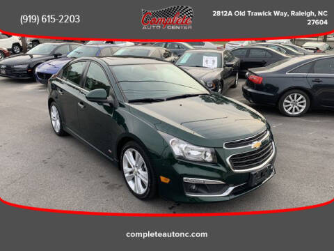 2015 Chevrolet Cruze for sale at Complete Auto Center , Inc in Raleigh NC