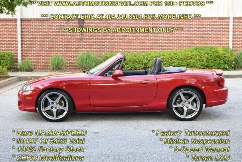 2004 Mazda MAZDASPEED MX-5 for sale at Automotion Of Atlanta in Conyers GA