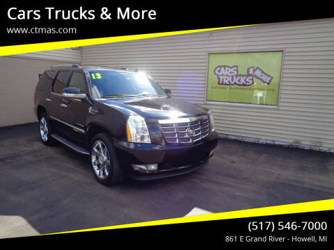 2013 Cadillac Escalade for sale at Cars Trucks & More in Howell MI
