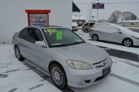 2005 Honda Civic for sale at CARGILL U DRIVE USED CARS in Twin Falls ID