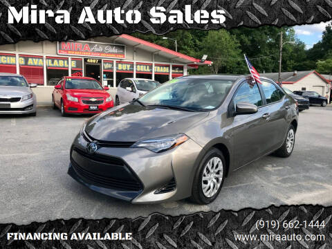 2018 Toyota Corolla for sale at Mira Auto Sales in Raleigh NC