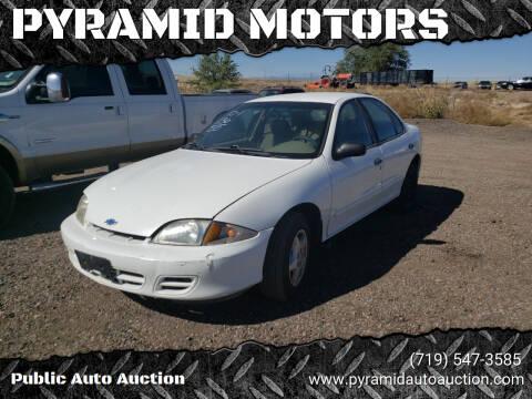 2000 Chevrolet Cavalier for sale at PYRAMID MOTORS - Pueblo Lot in Pueblo CO