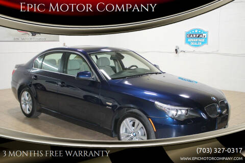 2010 BMW 5 Series for sale at Epic Motor Company in Chantilly VA